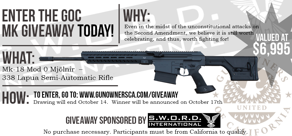 GOC Gun Giveaway!  No Purchase Necessary!