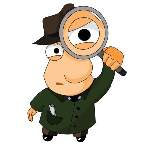 Image result for magnifying glass detective
